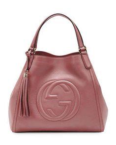 Gucci Soho Leather Shoulder Bag, Rose