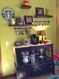canto do café na sala