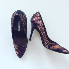 #ManoloBlahnik #Pumps #AnimalPrint #Sequins | Size 7.5/8 | $175! Call for more info (781)449-2500. #FreeShipping #ShopConsignment  #ClosetExchangeNeedham #ShopLocal #DesignerDeals #Resale #Luxury #Thrift #Fashionista