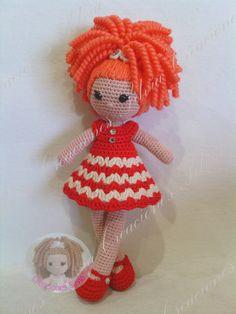 https://www.facebook.com/CreacionesSilviaCrochet/ ♡ lovely doll