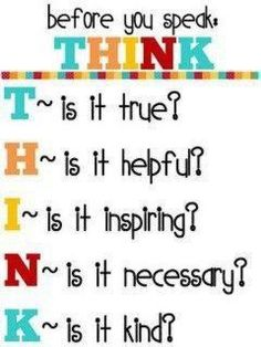 I love this! If only people would use this checklist before speaking...