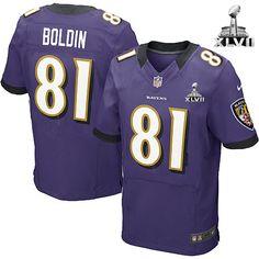 Men\s Nike Baltimore Raven\s http://#81 Anquan Boldin Elite Team Color Purple With Super Bowl Patch Jersey $129.99