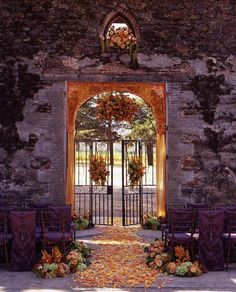 garden gate Altar and Arch Decor, Wedding Ceremony Photos by Sasha Souza Events Mod Wedding, Wedding Events, Fall Wedding, Autumn Weddings, Perfect Wedding, Dream Wedding, Wedding Ceremony Decorations, Decor Wedding, Wedding Ceremonies