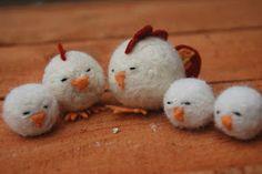 felt ball chicks-- MH could easily make