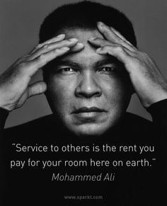 Beautiful quote from the late, great Muhammad Ali #ripmuhammadali