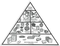 food pyramid to promote healthy eating and taking care of