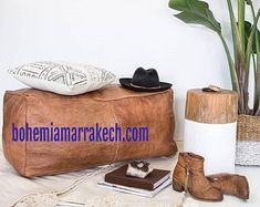 Bohemia Marrakech pouf leather Original by BohemiaMarrakechCom Square Pouf, North Africa, Marrakech, Moroccan, Etsy Seller, Reusable Tote Bags, The Originals, Trending Outfits, Handmade Gifts