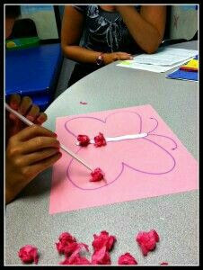 oral motor craft using a straw to suck up tissue paper and transfer it to where you want to glue. Then use the straw to blow glitter to the glue. Oral Motor Activities, Sensory Motor, Speech Activities, Sensory Activities, Therapy Activities, Therapy Ideas, Art For Kids Hub, Dental Hygiene School, Pediatric Occupational Therapy