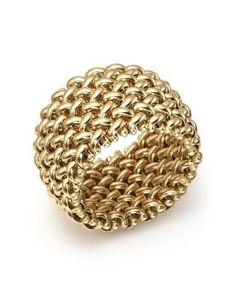BLOOMINGDALE'S WOVEN RING IN 14K YELLOW GOLD - 100% EXCLUSIVE. #bloomingdales #