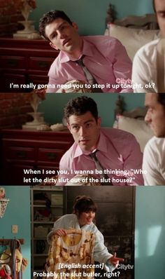New Girl - Jess, oh that slut butler hahaah Coral Howard New Girl Funny, New Girl Tv Show, New Girl Quotes, Jessica Day, The Mindy Project, Movie Quotes, Tv Quotes, Qoutes, Nick Miller