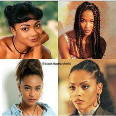 90s Black Women Short Hair Braids Black, Black Hair 90s, Black Women Short Hairstyles, Black Wedding Hairstyles, 90s Hairstyles, African Braids Hairstyles, African American Hairstyles, Braided Hairstyles, Natural Hairstyles