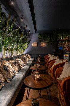 Playa - London | Cocktail Bar Interior Design | B3 Designers Rustic Restaurant Interior, Cocktail Bar Interior, Dark Restaurant, Cocktail Bar Design, Modern Restaurant Design, Pub Interior, Bar Interior Design, Restaurant Seating, Lounge Design