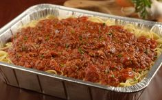 Pasta with Meat Sauce (Serves 6)  $27.99 ORDER TO GO