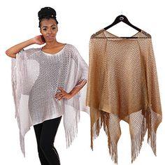 Fishnet Lace Open-Weave Poncho $9.95 Look stylish with this Fishnet Lace Open-Weave Poncho. C-WS859
