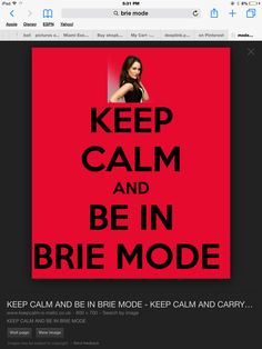 be in brie mode