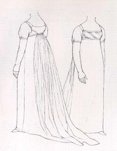 Patterns of Fashion by Janet Arnold, apron front dress