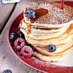 Gluten Free Vegan Pancakes Recipe Breakfast and Brunch with gluten free all purpose flour, ground flaxseed, baking powder, ground cinnamon, salt, maple syrup, vanilla, unsweetened applesauce, milk