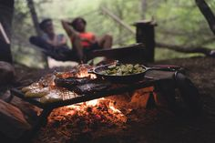 The smell of a campfire... #adventure #camping #firewood #outdoor #feast #campfire #feastenture #steak #friends #campfire #man #people #bbq #tree #wood #landscape #nature #view #green #grass #mountaineers ##fire #flames #steel #grill #pan #charcol #burn #rock #ash #gear #explore #embrace #learn #live