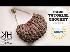 "Tutorial uncinetto pochette ""Shellina"" - Maglia bassa in costa - Crochet bag ♥ Katy Handmade - YouTube"