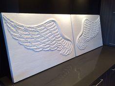 Angel Wings  Wall Art  Decor by Wingsbyashleybell on Etsy