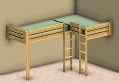 double corner loft bed plans