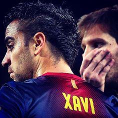 Xavi Hernández & Lionel Messi