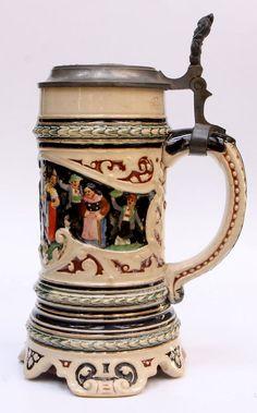 German Musical Pottery Stein German Beer Mug, German Beer Steins, Types Of Drinking Glasses, Beer Glassware, Beer Company, Beer Mugs, Ceramic Pottery, Craft Beer, Brewery