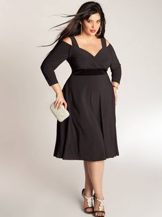 The LBD is something which is a part of every woman's wardrobe. While one or two pieces of plus size little black dresses are what a full-figured woman would invest in.