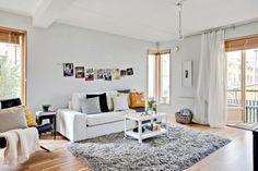 Atmosfera luminoasa intr-un apartament cu o mica gradina- Inspiratie in amenajarea casei - www.povesteacasei.ro