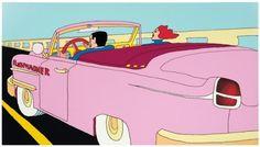 Pushwagner - Pink Cabriolet (innrammet)