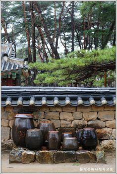 Kimchee pots in Yeongwol, Korea