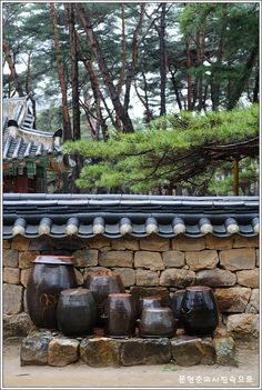Kimchee pots in Yeongwol, Korea