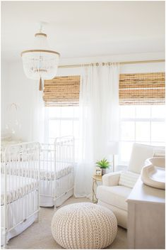 Traditional white and neutral twin nursery inspiration. Twin Baby Rooms, Baby Bedroom, Baby Room Decor, Baby Boy Nurseries, Twin Room, Baby Cribs, Nursery Room, Triplets Nursery, Elephant Nursery