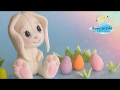 Easter Bunny, Easter Eggs, Easter Cake Toppers, Bee Cakes, Rabbit Cake, Biscuit, Elsa, Fondant Tutorial, Baby Shower Cakes