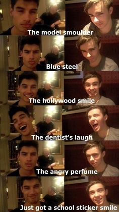 the video with this clip is even more funny cos before every pose Siva has to stretch his mouth then Nathan does the same trying to imitate him.