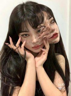Junji Ito, Aesthetic Girl, Aesthetic Anime, Pretty People, Beautiful People, Ulzzang Girl, Asian Girl, Korean Girl, Makeup Looks