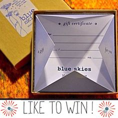 """We hope everyone had a great Fourth of July weekend. It's contest time again-- Just """"LIKE"""" this post on our FB or on our Instagram, {blueskieschatt} to be entered to win a blue skies gift certificate!"""