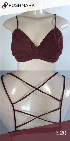 VS maroon lined Bralette 💕✨ VS maroon lined Bralette large 💕💕 PINK Victoria's Secret Intimates & Sleepwear Bras