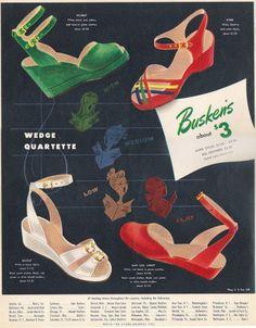 Vintage Shoes 1940's