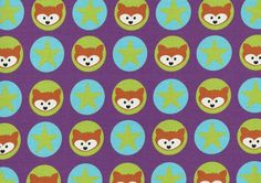 Sweat fabric foxes fabricstars fabric cotton by FabrictalesShop
