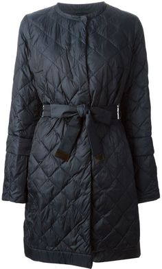 Max Mara quilted and padded round neck parka