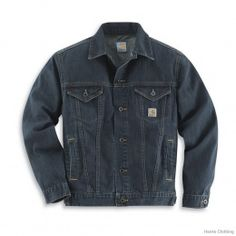 #Carhartt #Workwear: Mens Denim Jean Jacket/Unlined - find more on workstyle.pl