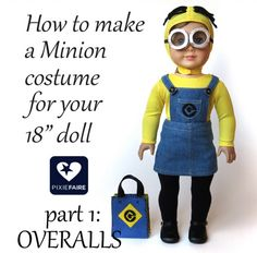 Free Minion Costume Pattern for Dolls