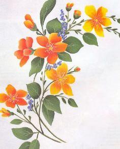 Turuncu çiçek boya öğrenin