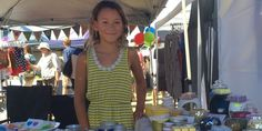 Young entrepreneur Talitha McEwan sells handmade soaps, massage bars and candles at markets around the city to raise money for synchronised swimming. Photo: ROSIE DAWSON-HEWES
