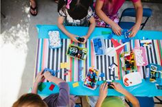 Great list of 10 kids birthday party craft ideas that double as party favors.
