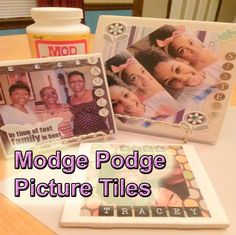Gift Ideas- Learn how to make these gorgeous picture tiles!