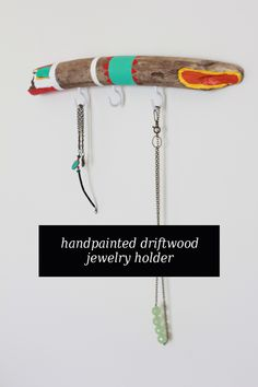 The Forge Blog Giveaway. Win this handmade painted driftwood jewelry holder!