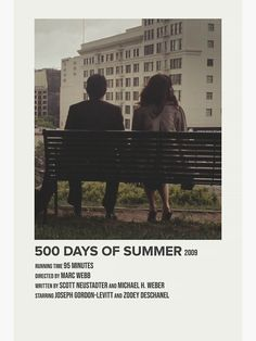 Iconic Movies, Good Movies, 500 Days Of Summer, Film Poster Design, Summer Poster, Romance Film, Movie Prints, Alternative Movie Posters, Indie Movies