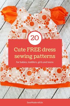 More than 20 FREE sewing patterns for the prettiest girls dresses to sew. Free dress patterns for babies, toddlers, girls and teens. Little Girl Dress Patterns, Baby Clothes Patterns, Sewing Patterns For Kids, Dress Sewing Patterns, Little Girl Dresses, Sewing For Kids, Baby Sewing, Free Sewing, Sewing Ideas